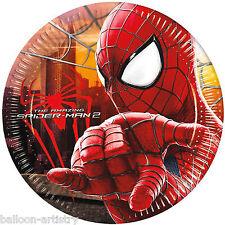 8 Marvel The Amazing Spider-man 2 Película Partido Desechables 20cm platos de papel