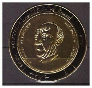 s14609) MANAMA 1967 MNH** Adenauer Gold Foil 1v