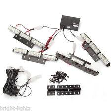 LED LIGHT BAR AMBER FLASHING STROBE SET RECOVERY CAR TRUCK BREAKDOWN SAFETY