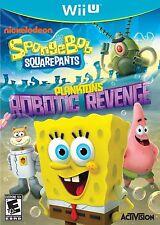 SpongeBob SquarePants: Plankton's Robotic Revenge (Nintendo Wii U, 2013) new