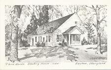 Easton MD * Third Haven Meeting House 1684 * John B. Moll Post Card ca. 1960