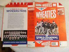 1987 Minnesota Twins World Series Baseball Flat Wheaties Box~Letter~Free US Ship