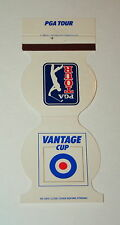 Vintage Vantage Cup PGA Pro Golf Tour Match Book Cover 1980