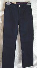 Girls LEVI'S SLIM STRAIGHT Navy Blue Denim Long Pants 6X Slim Adj Waist