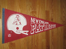 """Vintage Early 70s NFL NEW ENGLAND PATRIOTS 30"""" Pennant"""