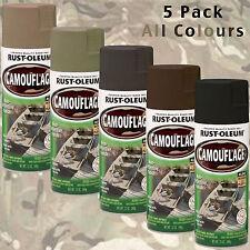 RUSTOLEUM Camouflage Spray Paint Cans 5pk Hunting Combat Rust-Oleum Camo Paint
