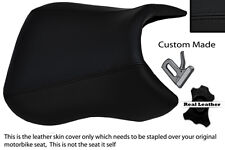 BLACK STITCH CUSTOM FITS PEUGEOT XR6 50 FRONT RIDER LEATHER SEAT COVER