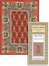 Miniature Rug Carpet Cross Stitch Pattern - Queens Drive (Arts & Crafts Style)