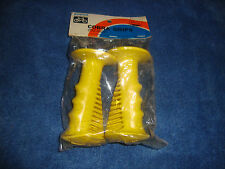 OLD SCHOOL BMX NOS 1 SET OF YELLOW FUAN GRIP REDLINE SKYWAY TORKER MONGOOSE