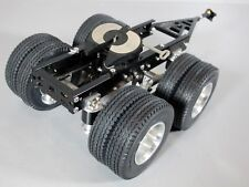 Aluminum Tamiya 1/14 R/C Semi Tractor Trailer 2 Axles Dolly & Attach Pin Mount
