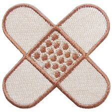 Plaster Band-aid X Funny Boys Girls Cartoon Children Kids Iron-On Patches #C291
