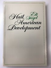 Hail, American Development Eli Siegel Paperback
