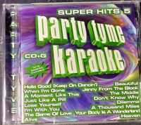 Party Tyme Karaoke: Super Hits, Vol. 5 by Sybersound (CD, May-2005,...