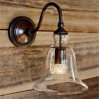 1 X Lampe Leuchte Vintage Retro Glas Wandlampe Wandleuchte Licht Lampenschirm