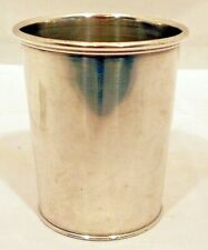 A coin silver julep cup, made by Krider for Joseph Werne, Louisville, Ky, 1857-1