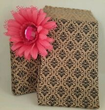 100 8 1/2x11 Damask paper Merchandise / Party/ Favor /Treat / flat goodie Bags