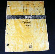 John Deere 762B 862B Scraper Technical Shop Service Repair Manual TM-1378