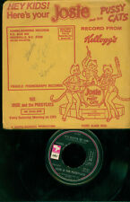 Rare 45 rpm record with picture mailer, Josie &The Pussycats, Kellogg's Promo