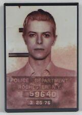 "David Bowie Mugshot 2"" X 3"" Fridge / Locker Magnet."