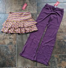 NWT Gymboree Sz 9 ALL ABOUT BUTTONS Skort Skirt FALL FOREST Purple Knit Pants