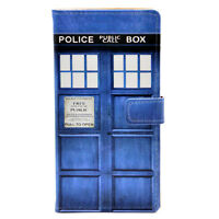 Doctor Who Tardis Leather Wallet Card Case Stand Cover For Samsung Galaxy S5
