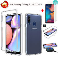 For Samsung Galaxy A51/A71/A20S Hybrid Armor Clear Case Cover+Screen Protector