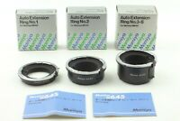 【UNUSED】Mamiya Auto Extension Ring No.1 .2 .3 for 645 Super Pro TL M645 JAPAN