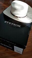 STETSON EVILLA 1000X STRAW COWBOY WESTERN HAT 7 1/8 Excellent Condition
