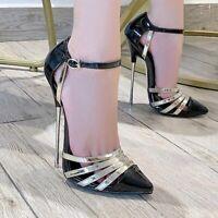 Women High Heels 16cm Ankle Strap Shoes Party Sandals Stiletto Heel Shoes Pumps