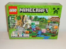 NEW LEGO 21123 Minecraft The Iron Golem Alex Zombie Pig Factory Sealed Box Set