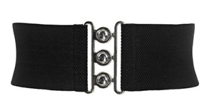 ELASTIC RETRO WAIST BELT 26-50 INCH WAIST (VARIOUS COLOURS)
