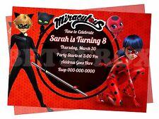 Miraculous Ladybug Digital Party Invitation Personalized Printable Birthday