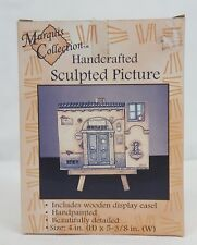 Marquis TAVERN Handcrafted Sculped Picture with Wooden Easel MINT in BOX