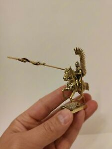 Winged Hussar horseback bronze metal Toy collection soldier 40mm
