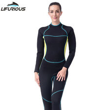 Women DivingSuit 3mm Neoprene Wetsuit Full Body Scuba Snorkeling Diving Swimwear