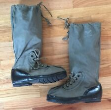 Rare 1947 Military U.S. Air Force Mukluk Boots X Lg Spring Lock Crown Zipper