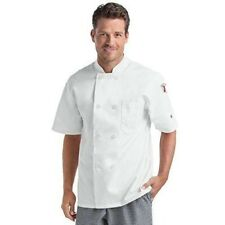 Chef Uniforms Mens Small White Short Sleeve Chef Coat 2-Button