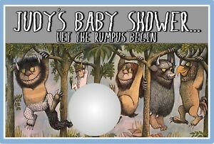 WHERE THE WILD THINGS ARE SCRATCH OFF PARTY GAME GAMES CARDS BABY SHOWER FAVORS
