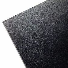 "ABS Black Plastic Sheet 1/4"" x 24"" x 24""  (.250"") Haircell 1 side 6mm stereo *"