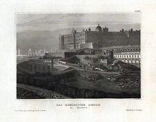 MADRID - Königliches Schloss - Stahlstich um 1850 - Original!