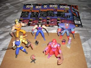 X-Men after Xavier action figures lot of 5 Toy Biz 1995 with backing cards