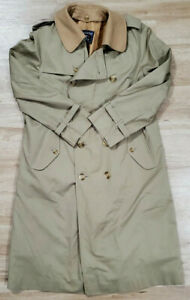 Burberry Mens Trench Coat Size 44 Long Tan