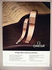 Omega Watch PRINT AD - 1981 ~ wristwatch