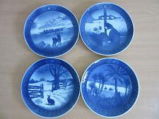 4 Vintage Royal Copenhagen Christmas Collector Plates 1968, 1970, 1971, 1972