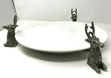 Pottery Barn Large Serving Platter with Stag Head Base