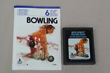 """Atari 2600 Vintage video game """"Bowling"""" 1978 with intruction manual"""