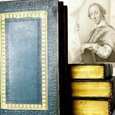 Rare HORACE WALPOLE, Royal Noble Authors England... 5 Leather Books 1806 Antique