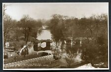 C1930's View of the Old Bridge over the River Avon from Warwick Castle