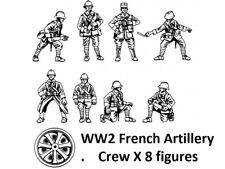 Hat 1/72 Scale WWII French artillery Crew. Model Kit - Contains 1 Spruce