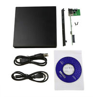 Portable USB 2.0 DVD CD DVD-Rom IDE External Case Slim for Laptop Notebook FT